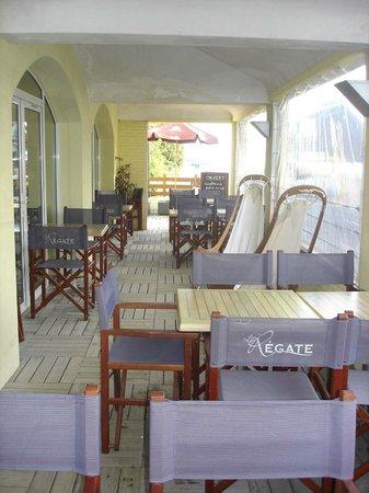 Les Sables Blancs : terrasse