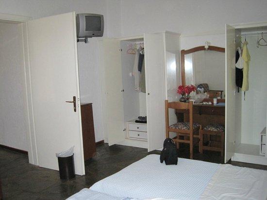 Afrodite Hotel : Our Bedroom with door open to next room in the suite