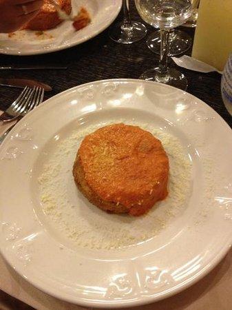Best Western Hotel Rocca: sformatino di pasta fritta alla pulcinella
