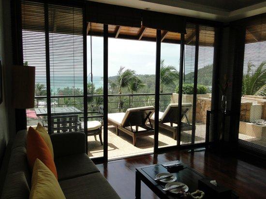 Ayara Hilltops Resort and Spa: Blick aus dem Wohnzimmer