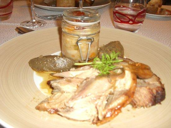 Logis Hotel du Pont: gigot d'agneau