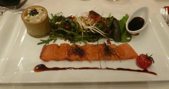 Restaurant La Cafetière Fêlée : sashimi de saumon