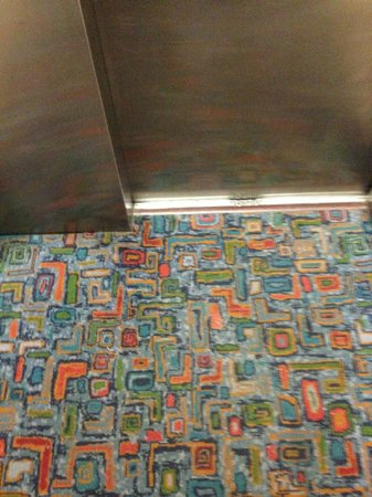 Indian Ocean Hotel: Stylish carpet in the lift