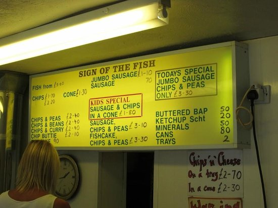 Sign of the Fish: THE MENU