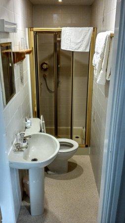 Hillside Bed & Breakfast: Narrow en-suite from the bedroom