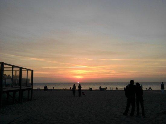 Strandpaviljoen Paal 17 : sunset view next to Paal 17