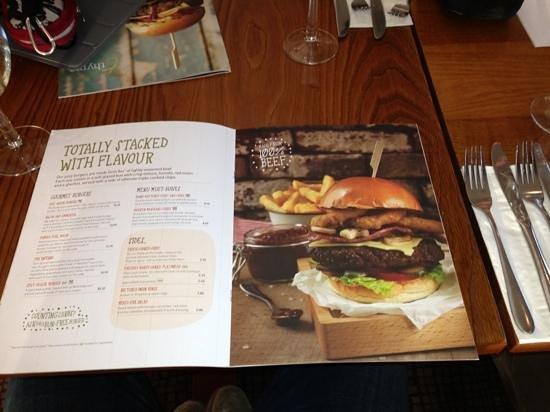 Premier Inn Edinburgh Airport (Newbridge) Hotel: menù del ristorante interno
