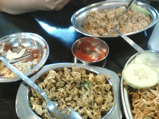 Deepam Restaurant: this is what my son had...indian fried rice and egg bhurji/pudimas....