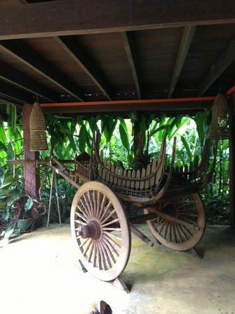 The Village House: One of the decorations - traditional cart
