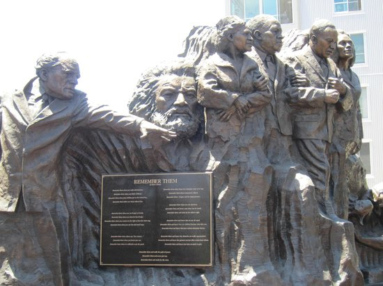 Remember Them Humanitarian Monument : Frederick Douglas, Rev. Dr. Martin Luther King and other civil rights leaders