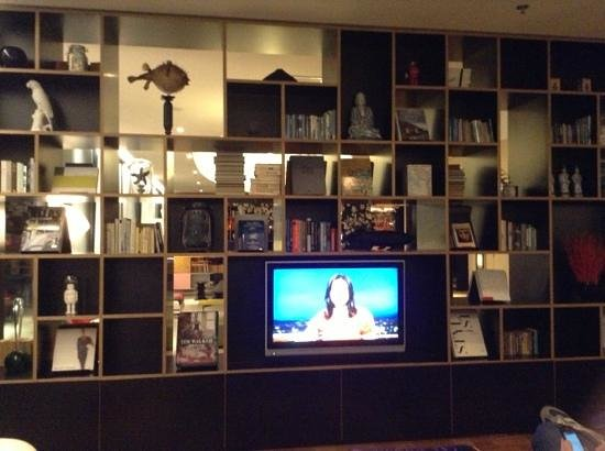 citizenM Amsterdam: quirky area downstairs