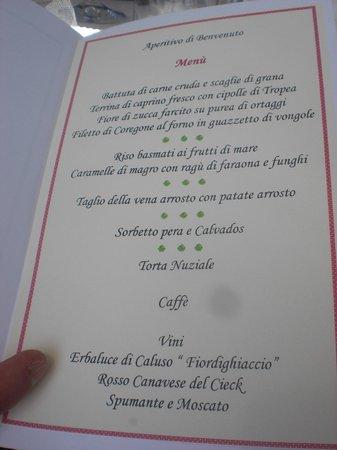 Al Cantun : menu