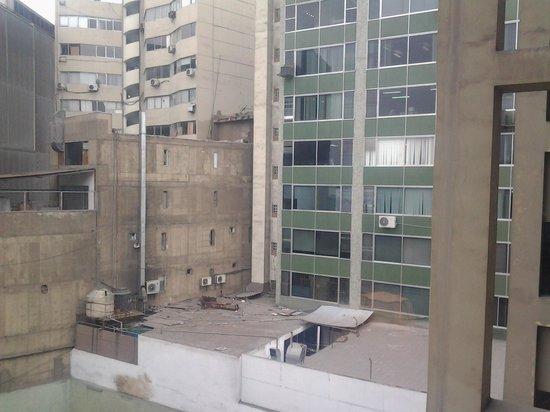 Carmel Hotel: view from 2nd window