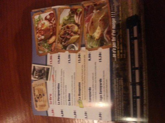 LA PATATERIE : menu