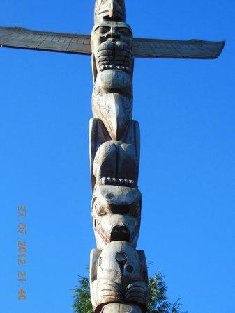 Brockton Point Totem Pole: Totem pole for Rose