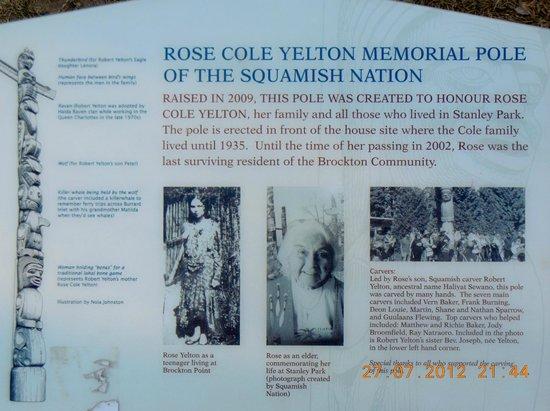 Brockton Point Totem Pole: details of Rose Totem pole