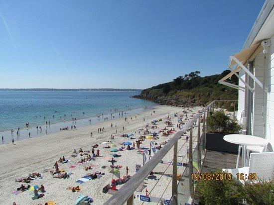 Les Sables Blancs : La spiaggia vista dalla nostra stanza