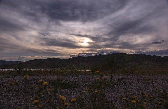 Clark Canyon Dam: Sunset at the Reservoir