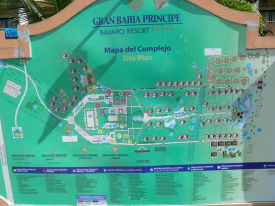 Grand Bahia Principe Punta Cana Map Map of the grounds   Picture of Grand Bahia Principe Punta Cana