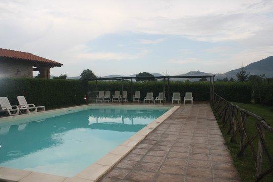Agriturismo La Mora: piscina , nelle belle giornate sullo sfondo c'è tutta assisi