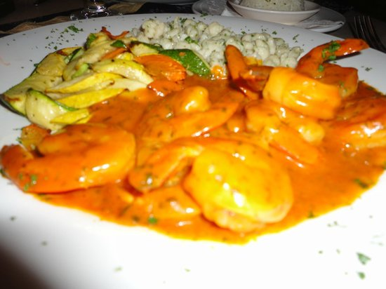 Amadeus Restaurant: hot shrimp diablo