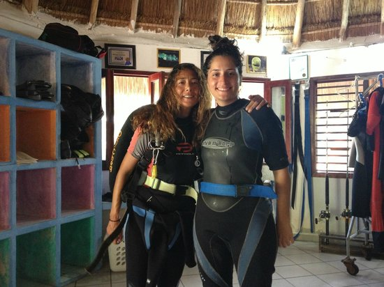 Vida Aquatica Dive Center: Barbara et moi