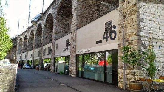Im Viadukt: View of storefronts