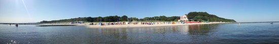 Loddin, Tyskland: Panoramabild im Meer stehend