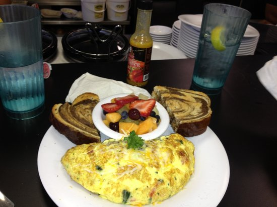 Suncoast Cafe: Farmer's omelette.  Delicious.