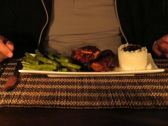 Ama Amanzi Bush Lodge: Dinner 'Yum'