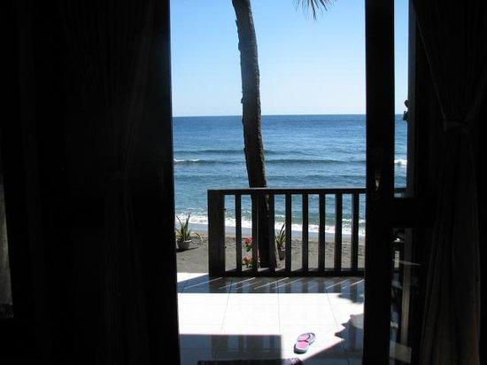 Pondok Vienna Beach: View out the front door
