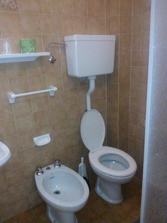 Hotel Riz: Bagno un pochino angusto