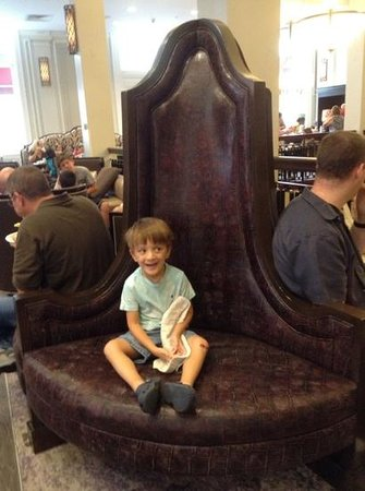 Hampton Inn & Suites Baltimore Inner Harbor: My son loved the funky couch