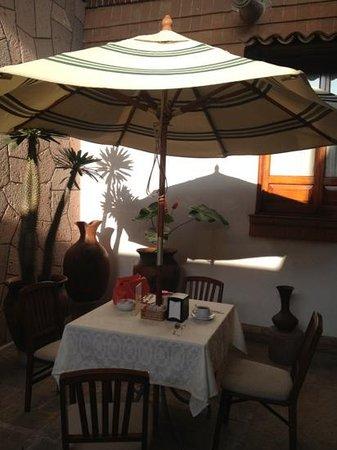 Hotel Meson de los Remedios: linda área para el desayuno