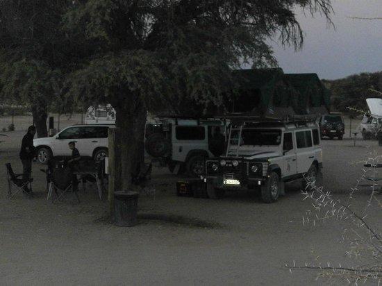 Mata-Mata Rest Camp : Vue du camp au soir