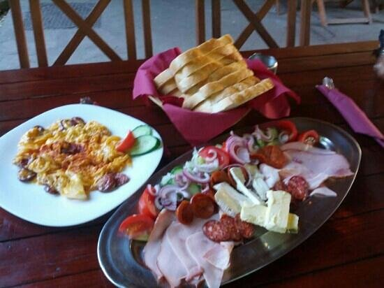 Haller Camping: Hungarian style eggs and Hungarian meat platter