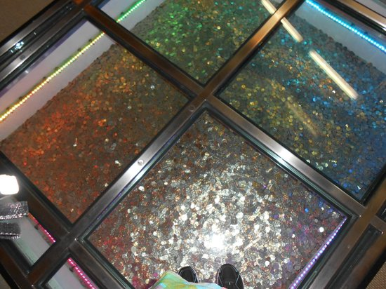 Money Museum at the Federal Reserve Bank: elevator shaft full of coins