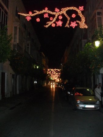 Monasterio San Miguel Hotel : Christmas Lights Outside Of Hotel