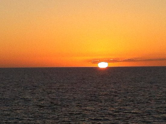 Club Puerto Atlantico: solnedgang