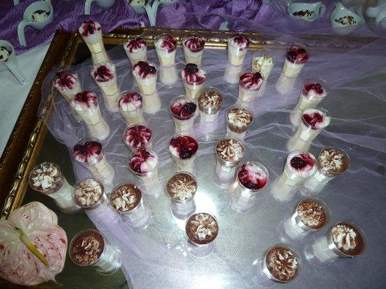 Villa Sonnino: parte del buffet dei dolci