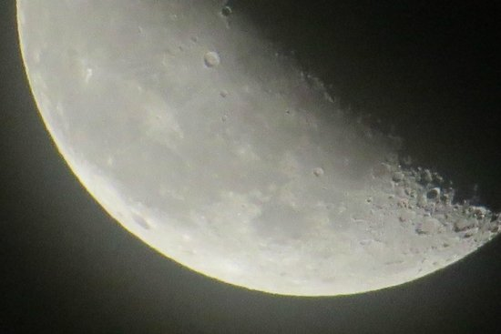 Moon over Goldendale Observatory - Picture of Goldendale