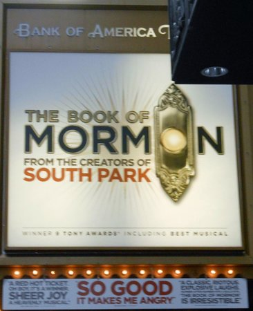 The Book of Mormon: No photography inside (they are SERIOUS!)