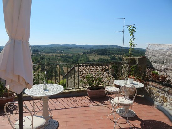 Le Terrazze del Chianti Bed & Breakfast: view from the roof