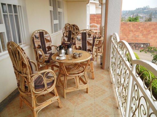 Mubwiza Courts: la terrasse