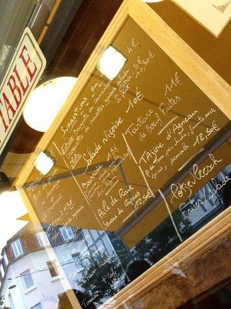 A Table : suggestion du jour (01/09/2013)