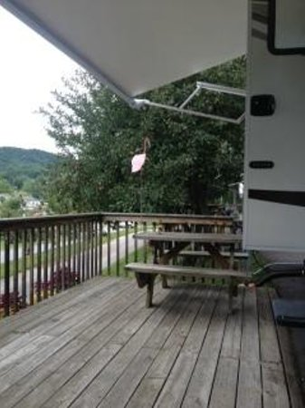 Lake Junaluska Campground: Your own private porch.