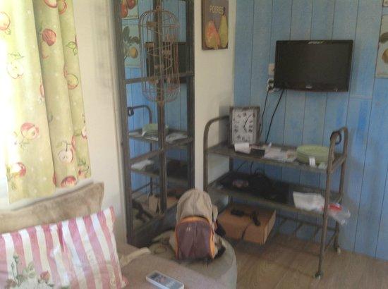 Yelloh! Village Le Sérignan-Plage : Coin salon/salle à manger