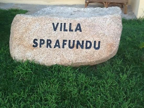 B&b Villa Sprafundu: insegna