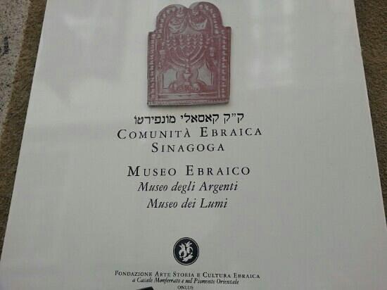Sinagoga: Comunità Ebraica di Casale Monferrato