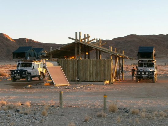 Sossus Oasis Camp Site : vue emplacement camping